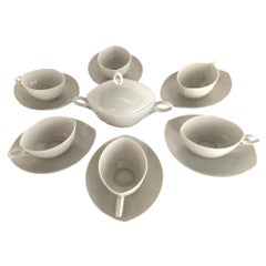 Rosenthal Mid Century OVAL pattern Demi Tasse Coffee Set Rudolf Lundhard 1951