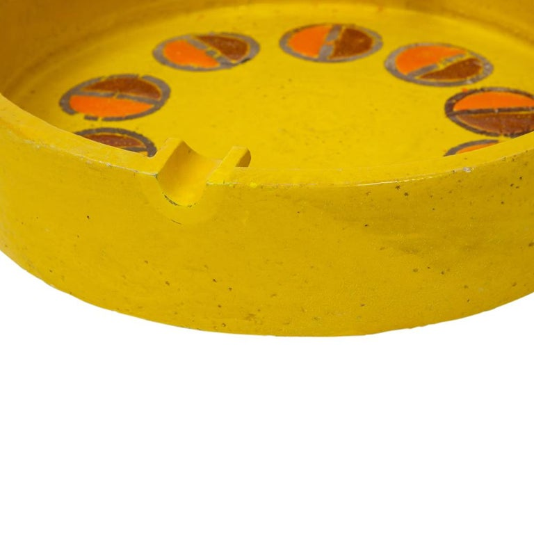 Rosenthal Netter Ashtray, Ceramic, Yellow and Orange, Discs, Signed For Sale 3
