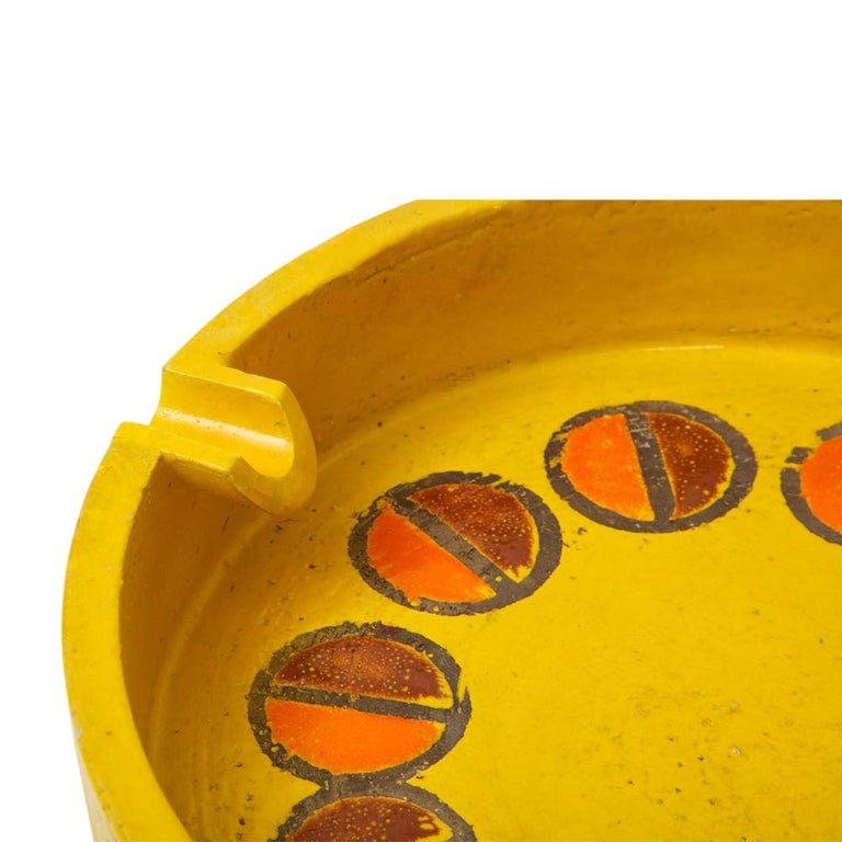 Rosenthal Netter Ashtray, Ceramic, Yellow and Orange, Discs, Signed For Sale 1