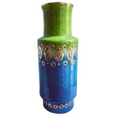 Rosenthal Netter Bitossi Italian Ceramic Cylinder Vase