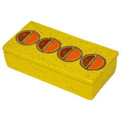 Rosenthal Netter Box, Ceramic, Yellow and Orange Discs, Signed
