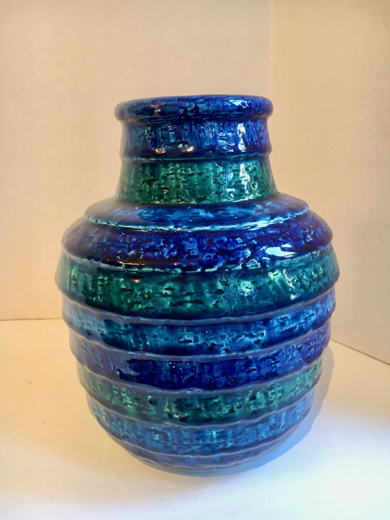 Rosenthal Netter ceramic vase in blues and greens, lovely by itself or full of spring flowers.