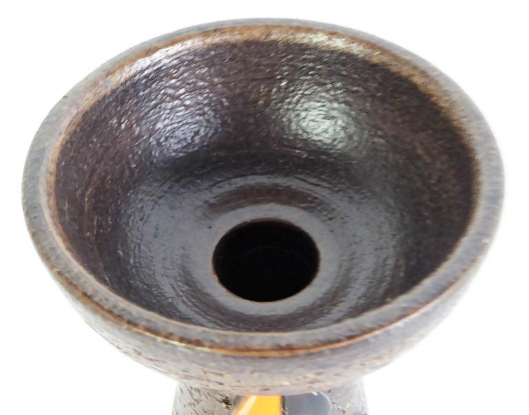 Italian Bitossi for Rosenthal Netter Italy Organic Modern Pottery Vase by Aldo Londi For Sale