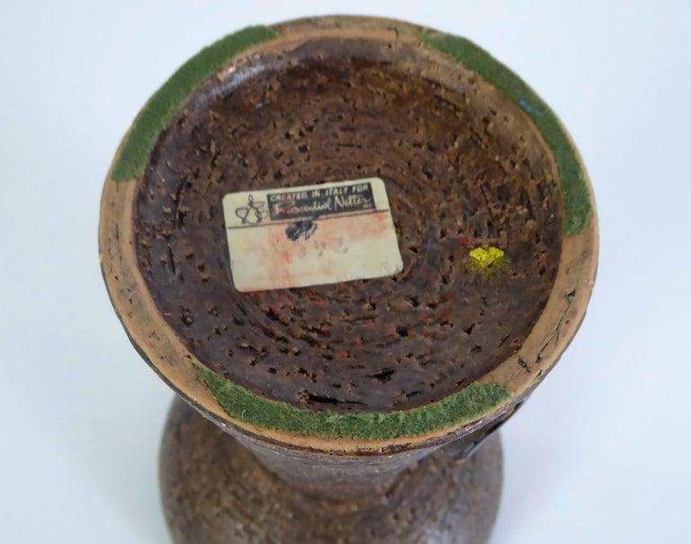 Mid-20th Century Bitossi for Rosenthal Netter Italy Organic Modern Pottery Vase by Aldo Londi For Sale
