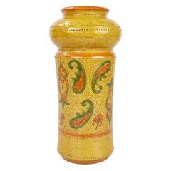 Rosenthal-Netter Mid-Century Modern Glazed Ceramic Vase Italy