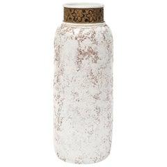 Rosenthal Netter Vase, Ceramic, White and Gold, Signed