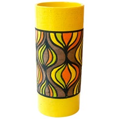 Rosenthal Netter Vase, Ceramic, Yellow, Orange and Brown Onion, Signed