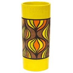 Rosenthal Netter Vase, Ceramic, Yellow, Orange, Brown, Onion, Signed