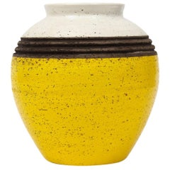 Rosenthal Netter Vase, Yellow, White and Brown, Signed