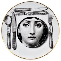 Rosenthal Piero Fornasetti Porcelain Plate, Themes & Variation Pattern, Motiv 11