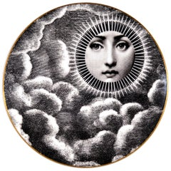 Rosenthal Piero Fornasetti Porcelain Plate, Themes & Variation Pattern, Motiv 18