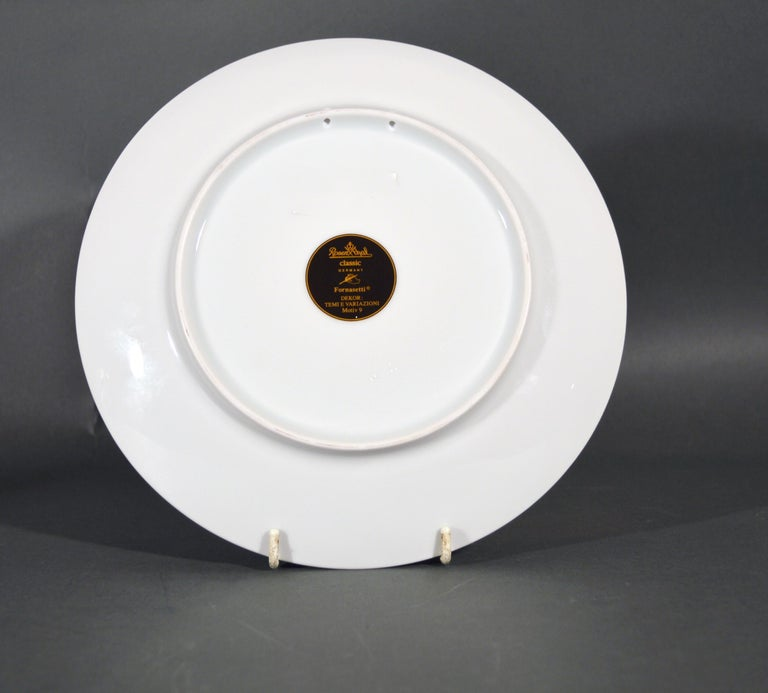 Mid-Century Modern Rosenthal Piero Fornasetti Porcelain Plate Themes and Variation Pattern, Motiv 9 For Sale