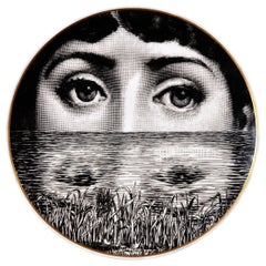 Rosenthal Piero Fornasetti Porcelain Plate Themes and Variation Pattern, Motiv 9