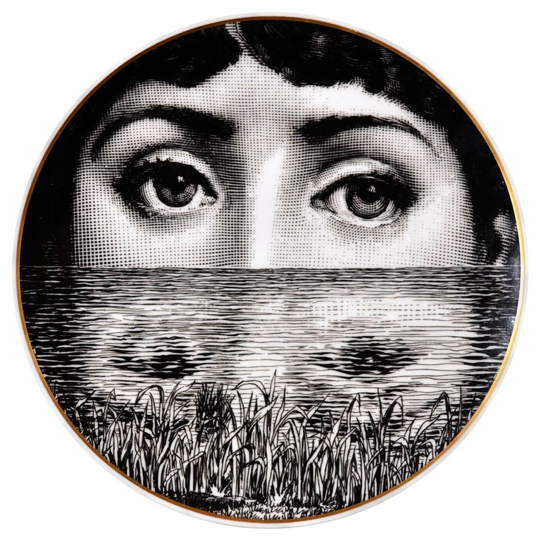 Rosenthal Piero Fornasetti Porcelain Plate Themes and Variation Pattern, Motiv 9 For Sale