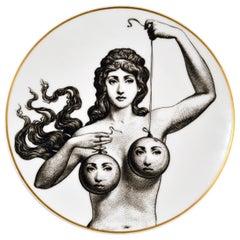 Rosenthal Piero Fornasetti Themes & Variations Motiv 17 Porcelain Plate, 1980s