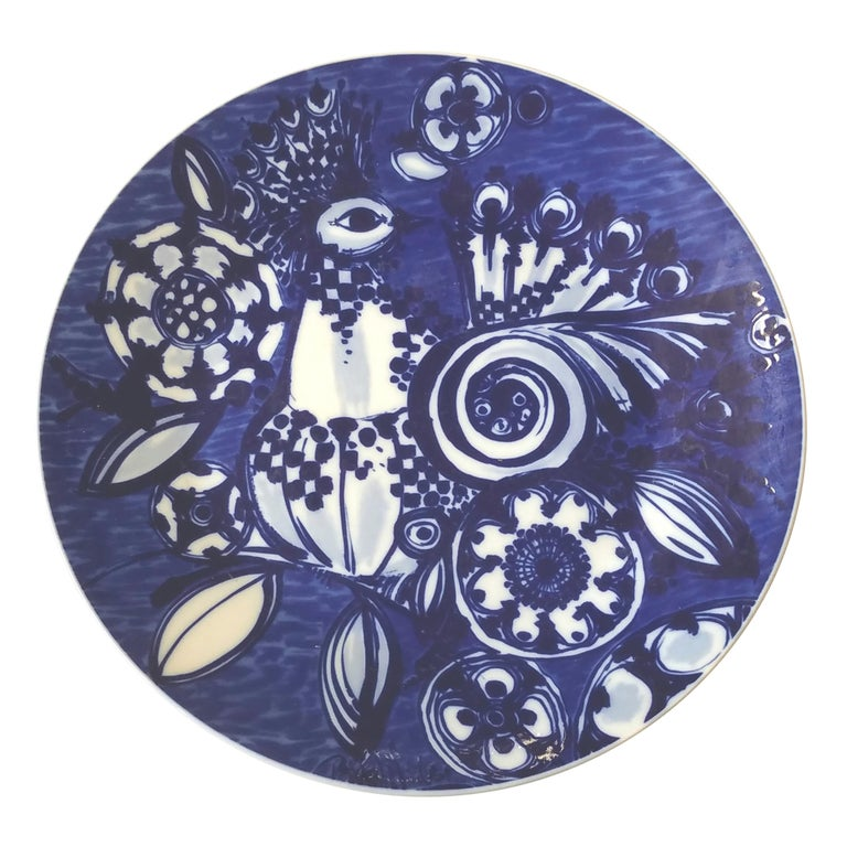 Rosenthal Porcelain Abstract Bird Wall Plate or Charger Artist Bjorn Winnblad For Sale