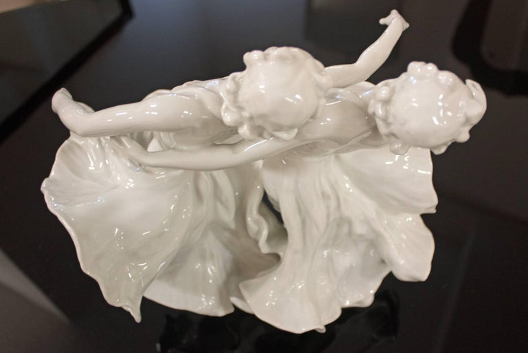 German Rosenthal Porcelain Figure Dance 'Kaiserwalzer', Frederich Gronau For Sale