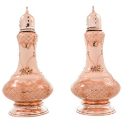 Rosenthal Porcelain with Silver Cap and Base Salt and Pepper Set