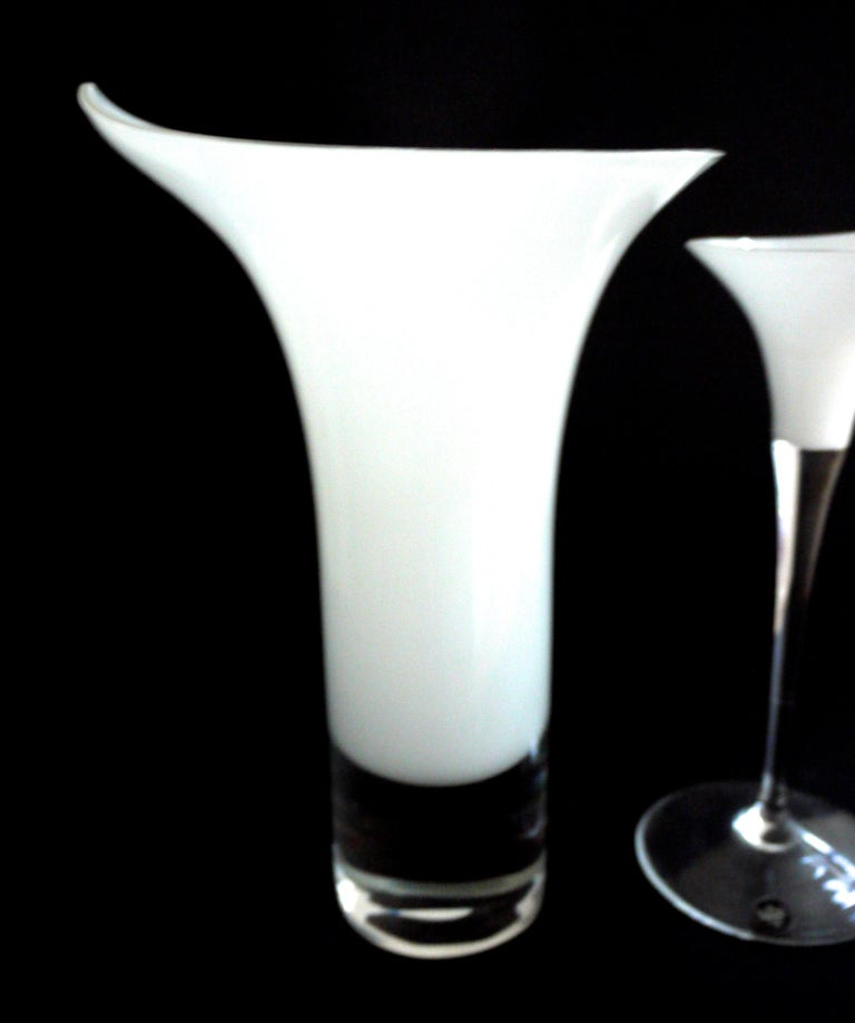 Rosenthal Studio, Germany Inspired by Calla Lily with Late 'One Piece' In Good Condition For Sale In Halstead, GB
