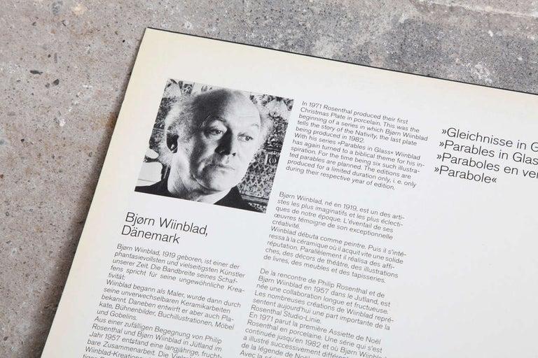 Etched Rosenthal Studio Line Designed by Bjørn Wiinblad For Sale