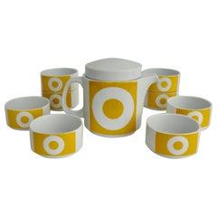 Rosenthal Studio-Line Germany Yellow on White O Ten Piece Tea Set