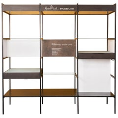 Rosenthal Studio-Line Iron Wood and Glass Room Divider