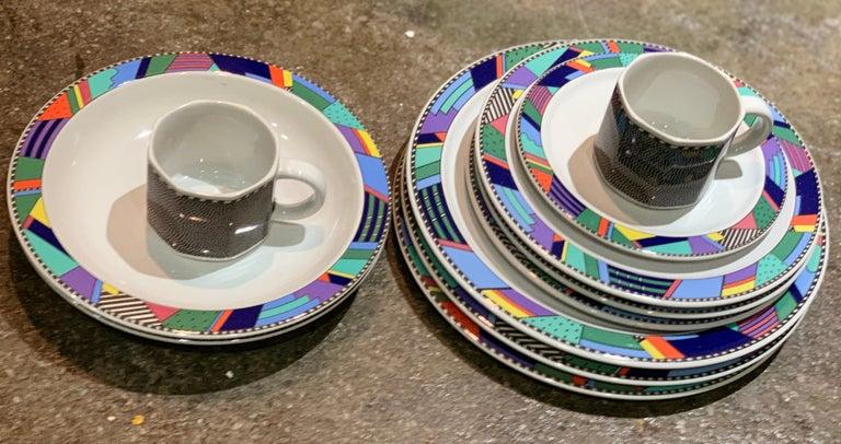 Rosenthal Studio Line Scenario Barbara Brenner dinnerware porcelain Memphis Era. Rare