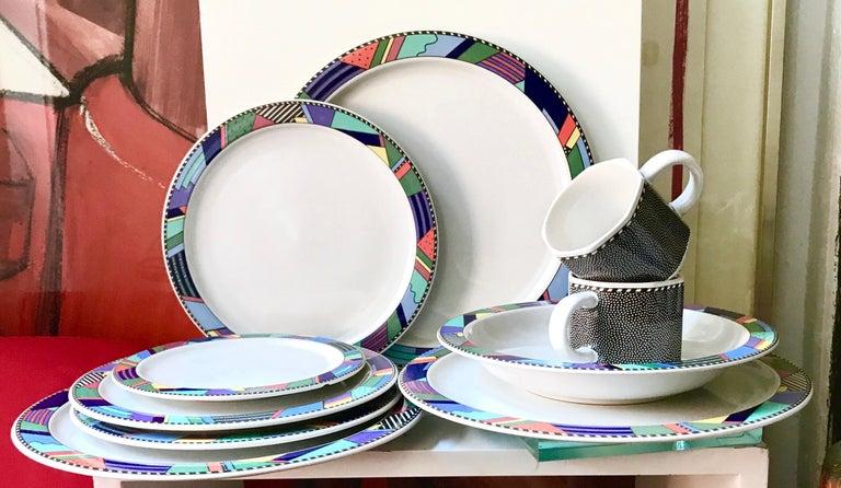 German Rosenthal Studio Line Scenario Barbara Brenner Dinnerware Porcelain Memphis Era For Sale