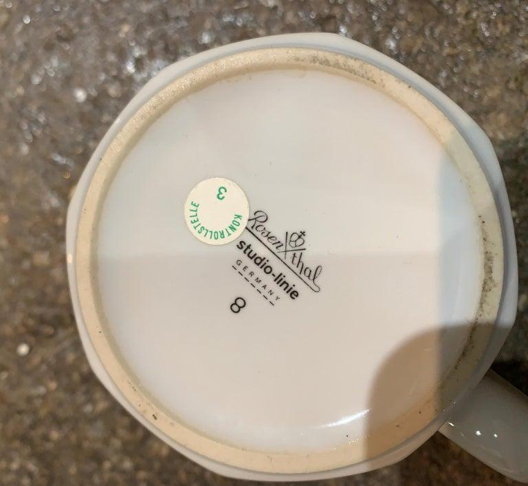 European Rosenthal Studio Line Scenario Barbara Brenner Dinnerware Porcelain Memphis Era For Sale
