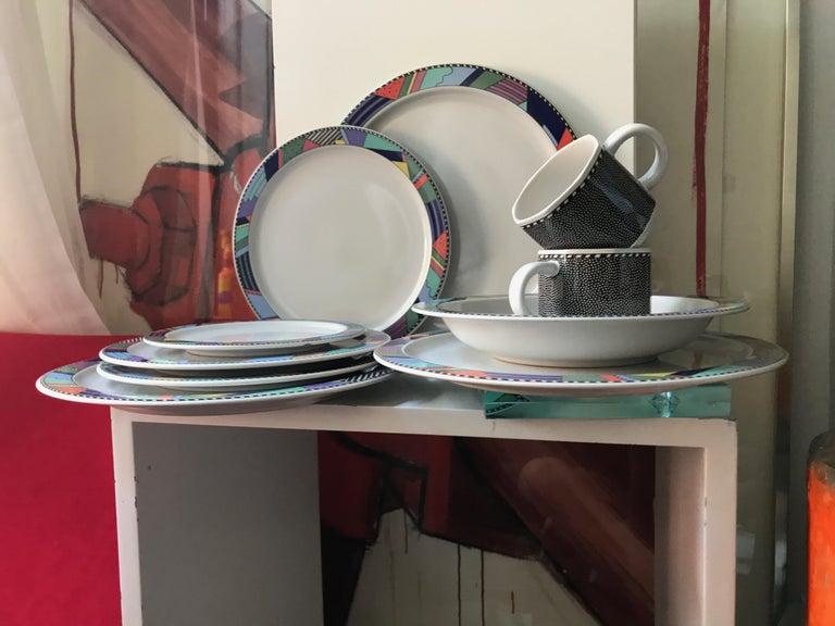 20th Century Rosenthal Studio Line Scenario Barbara Brenner Dinnerware Porcelain Memphis Era For Sale