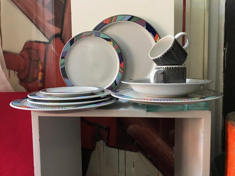 Rosenthal Studio Line Scenario Barbara Brenner Dinnerware Porcelain Memphis Era For Sale 1