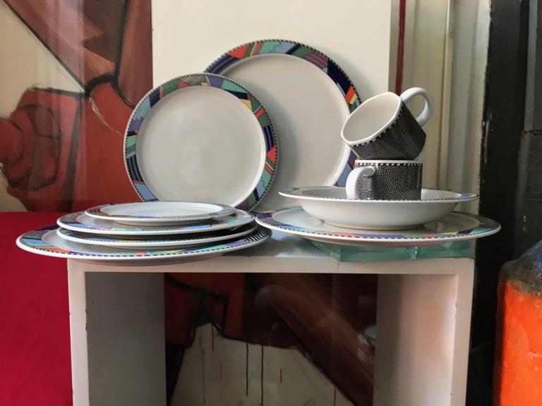 Rosenthal Studio Line Scenario Barbara Brenner Dinnerware Porcelain Memphis Era For Sale 2