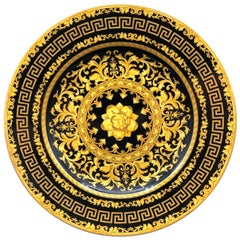 Rosenthal Versace 'Floralia Gold' Plate Boxed