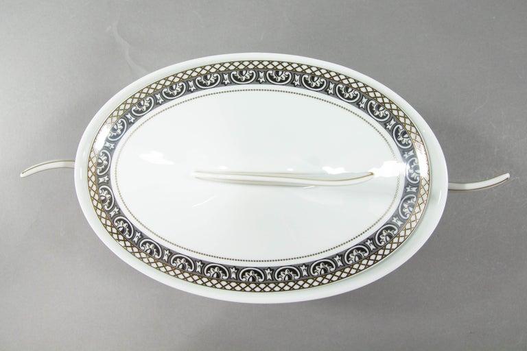 Renaissance Rosenthal Versace, Marqueterie, Lidded Serving Bowl For Sale