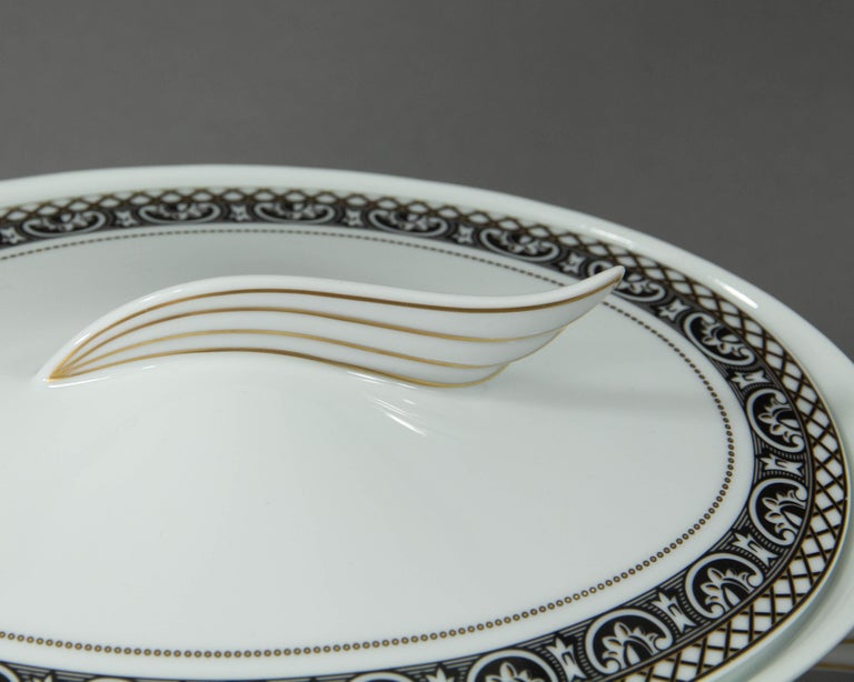 Rosenthal Versace, Marqueterie, Lidded Serving Bowl In Excellent Condition For Sale In Heemskerk, NL