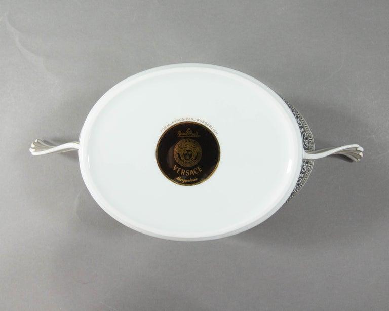 Porcelain Rosenthal Versace, Marqueterie, Lidded Serving Bowl For Sale