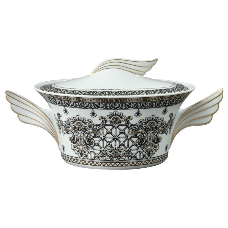 Rosenthal Versace, Marqueterie, Lidded Serving Bowl For Sale