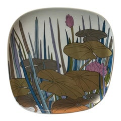 """Rosenthal Wall Plate Porcelain """"Lilies"""", 1979, Italy"""