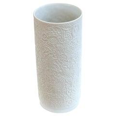 Rosenthal White Porcelain Bisque Lace Design Vase
