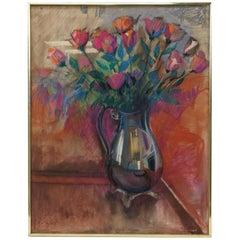 """Roses"" Oil Pastel Painting by John Elliot"