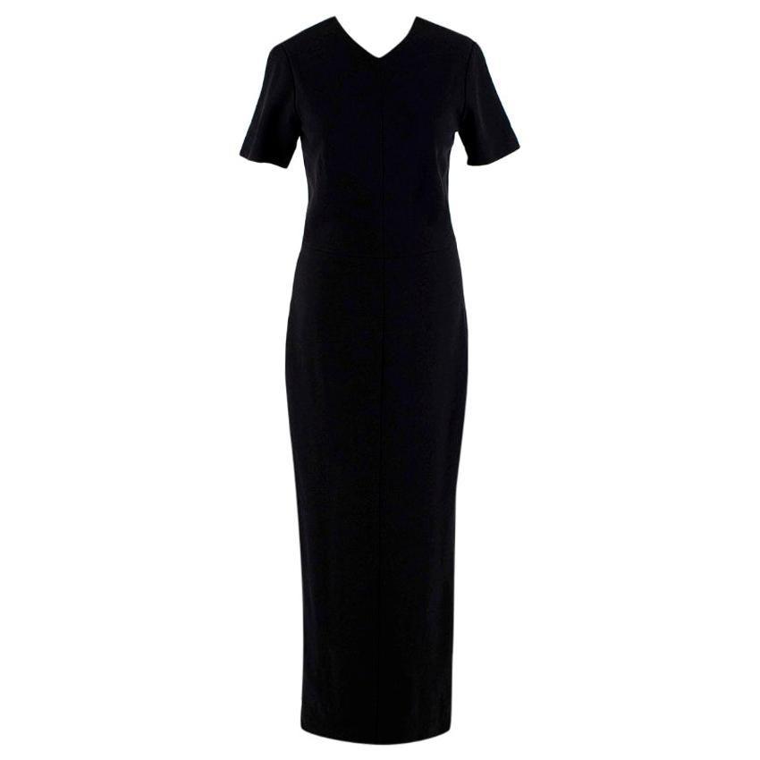 Rosetta Getty Black Short Sleeve Maxi Dress - Size US 4