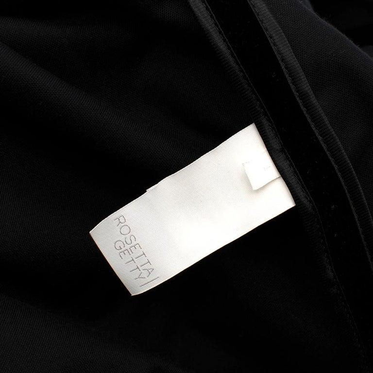 Rosetta Getty Black Velvet Satin Detail Shawl Jacket - Size US 4 For Sale 2