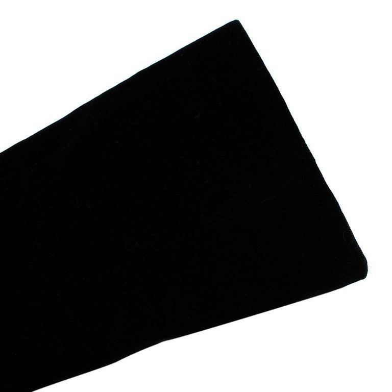 Rosetta Getty Black Velvet Satin Detail Shawl Jacket - Size US 4 For Sale 3
