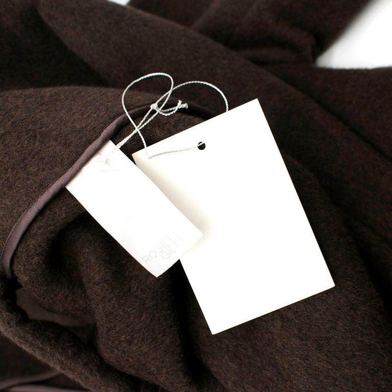 Black Rosetta Getty brown angora melton tailored coat - New Season - US6 For Sale