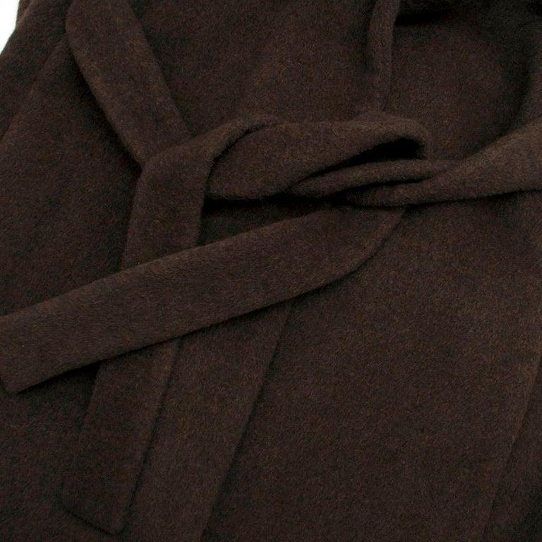 Women's Rosetta Getty brown angora melton tailored coat - New Season - US6 For Sale