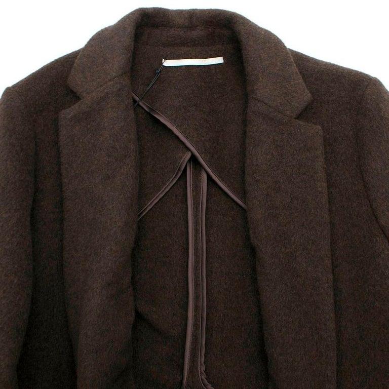 Rosetta Getty brown angora melton tailored coat - New Season - US6 For Sale 1