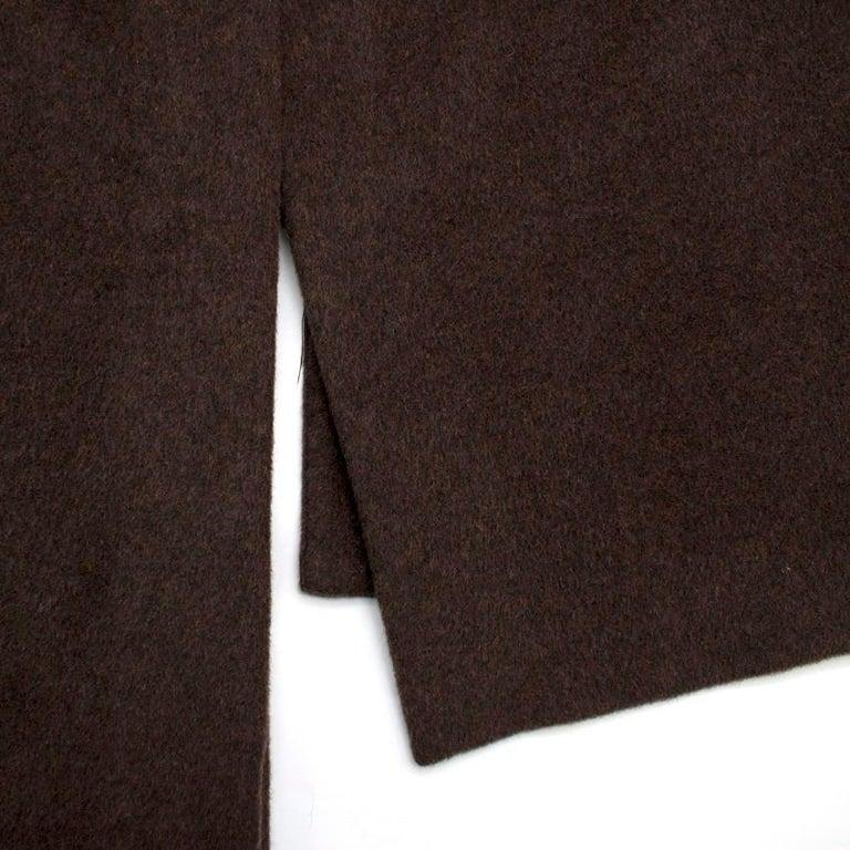 Rosetta Getty brown angora melton tailored coat - New Season - US6 For Sale 2