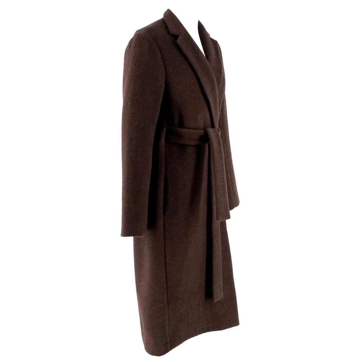 Rosetta Getty brown angora melton tailored coat - New Season - US6