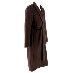 Rosetta Getty brown angora melton tailored coat - New Season - US6