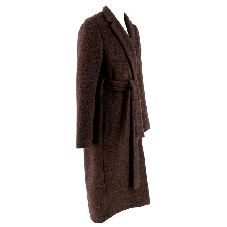 Rosetta Getty brown angora melton tailored coat - New Season - US6 For Sale